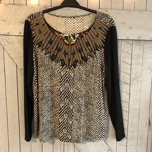 Soft Surroundings Long Sleeve Sequined Top